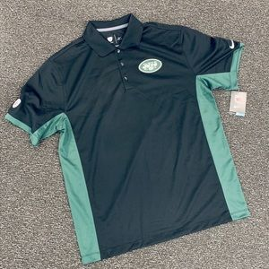 NWT! New York Jets Men's Dry Fit Polo